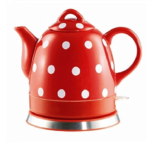 Fixture Displays Ceramic Electric Kettles Red with Polka Dots