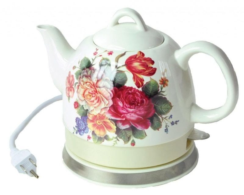 Aunt Polly's Retro Ceramic Electric Tea Kettles