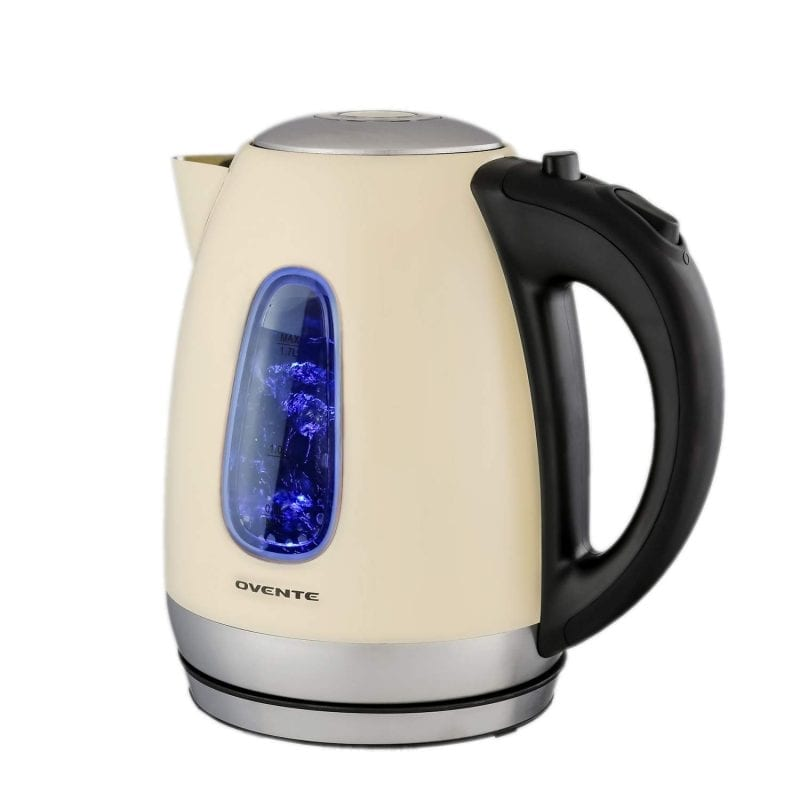 Ovente Stainless Steel Electric Kettles Fast Boiling 1.7 Liter