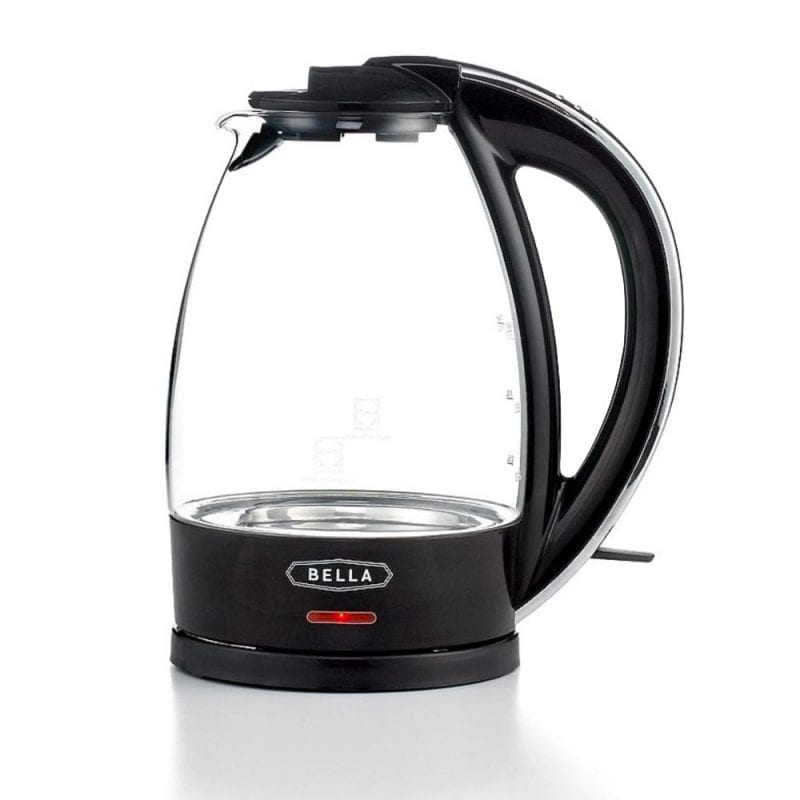 BELLA Glass Electric Kettles Non-Drip Spout Auto Shut-Off