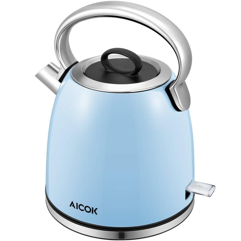 Aicok Retro Electric Kettles BPA Free Stainless Steel Cordless