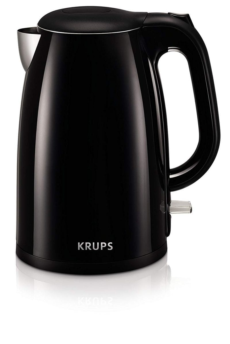 Krups Electric Kettles Stainless Steel Auto Shut-Off Black