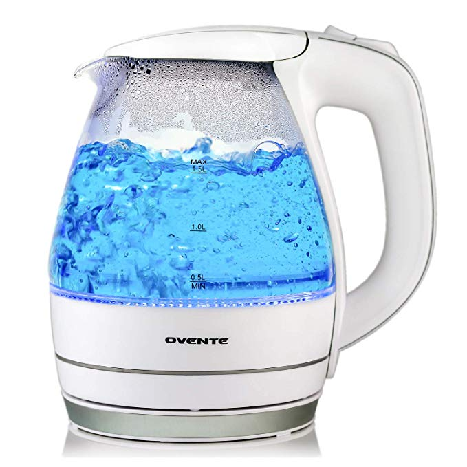 Ovente Glass Electric Kettles Auto Shut-Off BPA Free