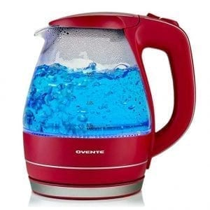 Ovente Glass Electric Kettles BPA Free Fast Heating Cordless