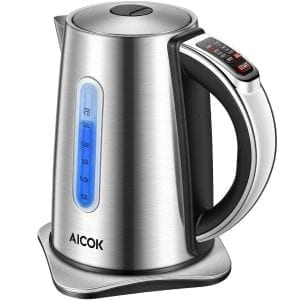 Aicok Electric Kettles Stainless Steel Variable Temperature