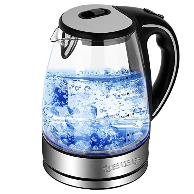 Queen Sense Glass Electric Kettles BPA Free