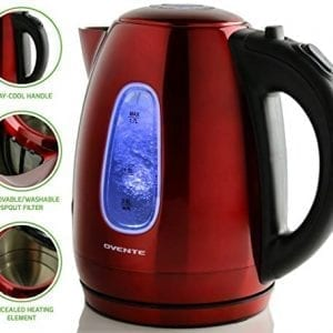 Ovente Electric Kettles Stainless Steel BPA-Free Auto Shut-Off