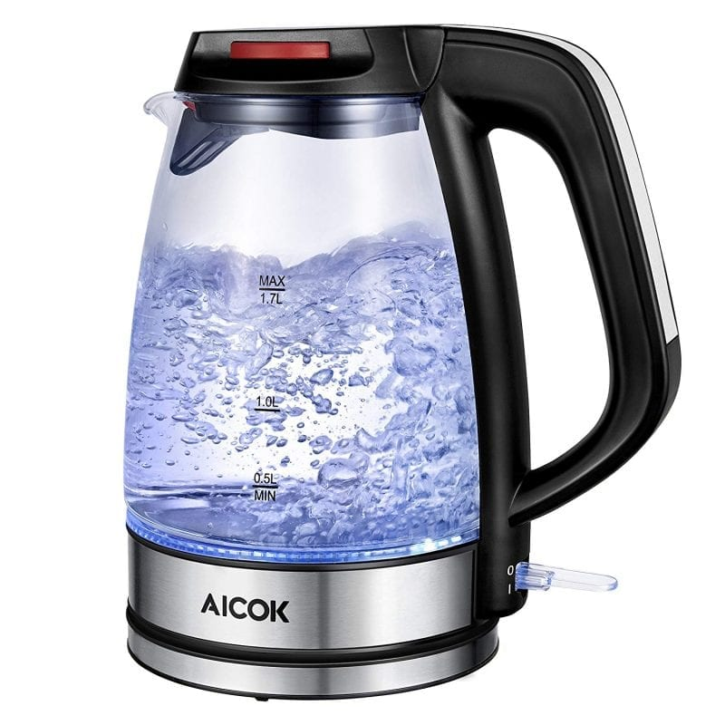 Aicok Electric Kettles Glass Fast Boiling BPA Free Auto Shut-Off