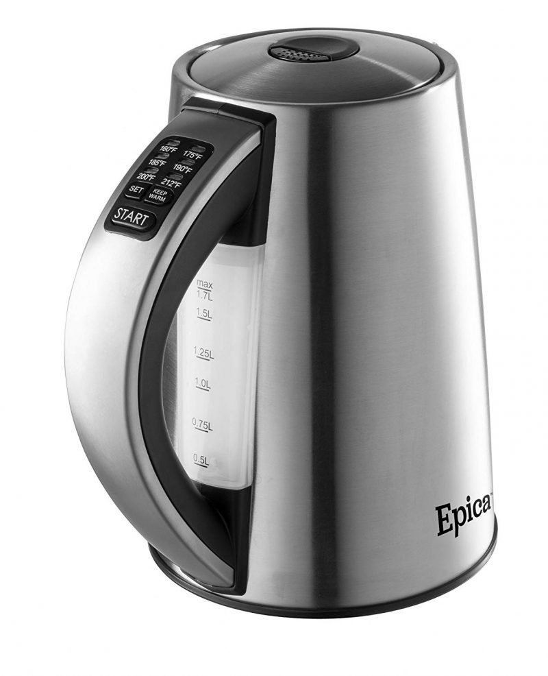 Epica Electric Kettles Variable Temperature Stainless Steel