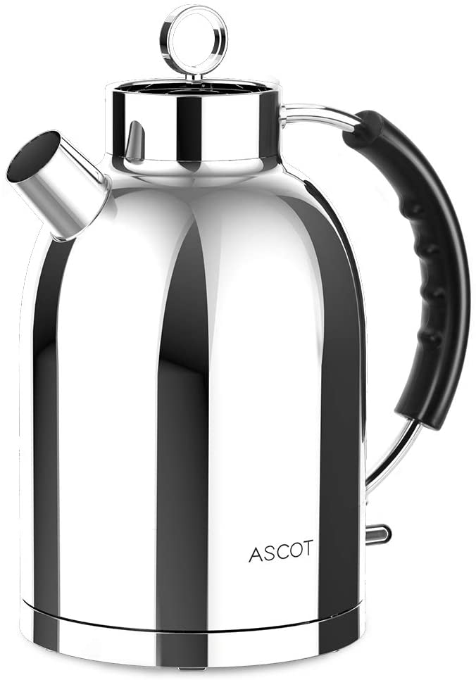 ASCOT Electric Kettles Stainless Steel BPA-Free Auto Shut-off