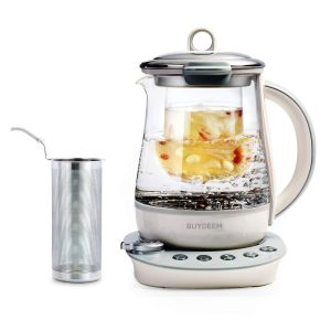 Buydeem Glass Electric Kettles Tea Maker Programmable Cooker