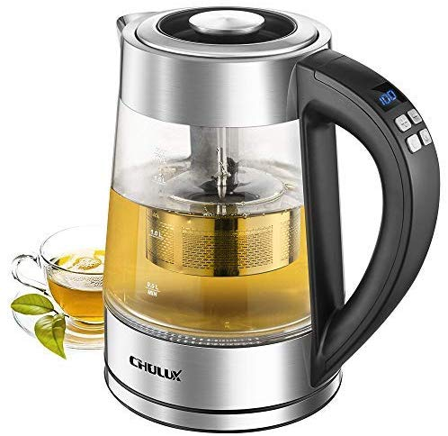 Chulux Electric Kettles Glass Variable Temperature Tea Infuser
