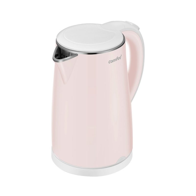 COMFEE' Electric Kettles Teapot Auto Shut-Off Cool Touch Pink
