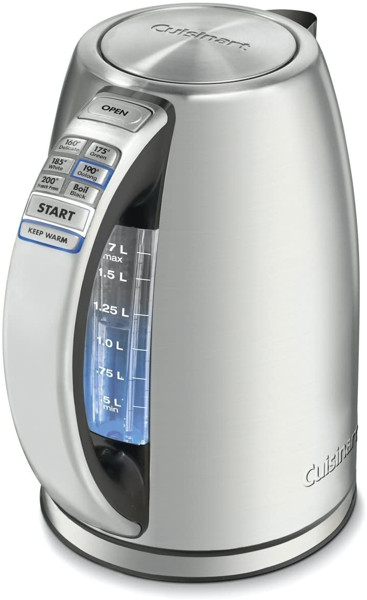 Cuisinart Electric Kettles 6 Preset Temperatures Stainless Steel