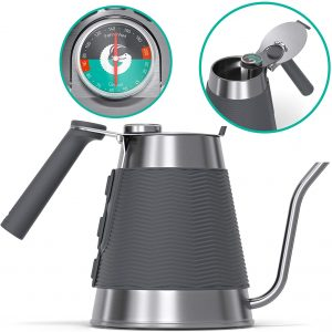 Coffee Gator Stovetop Kettles Gooseneck Built-in Thermometer 54oz