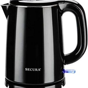 Secura Electric Kettles Stainless Steel Cool Touch BPA Free 1.0L