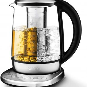 AICOOK Electric Kettles Glass Temperature Control Tea Infuser