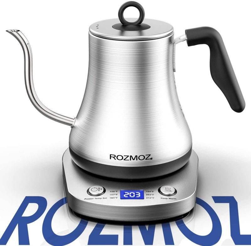 Rozmoz Electric Kettles Stainless Steel Temperature Control 0.8L