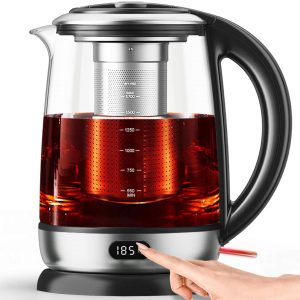 AICOOK Electric Kettles Glass Programmable BPA Free Auto Shut-Off
