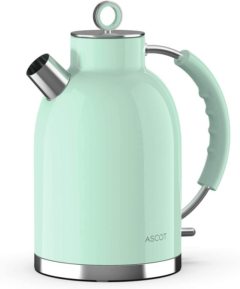 ASCOT Electric Kettles Stainless Steel Cordless BPA-Free Green