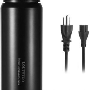 LOUTYTUO Electric Kettles Travel Insulated Bottle BPA-Free 10oz