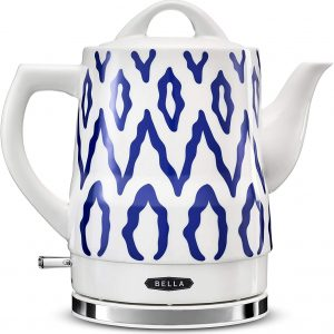 BELLA Electric Kettles Ceramic Auto Shut-off Blue Aztec 1.5L