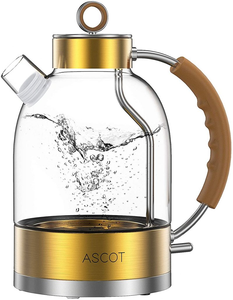 ASCOT Electric Kettles BPA Free Stainless Steel Auto Shut-Off