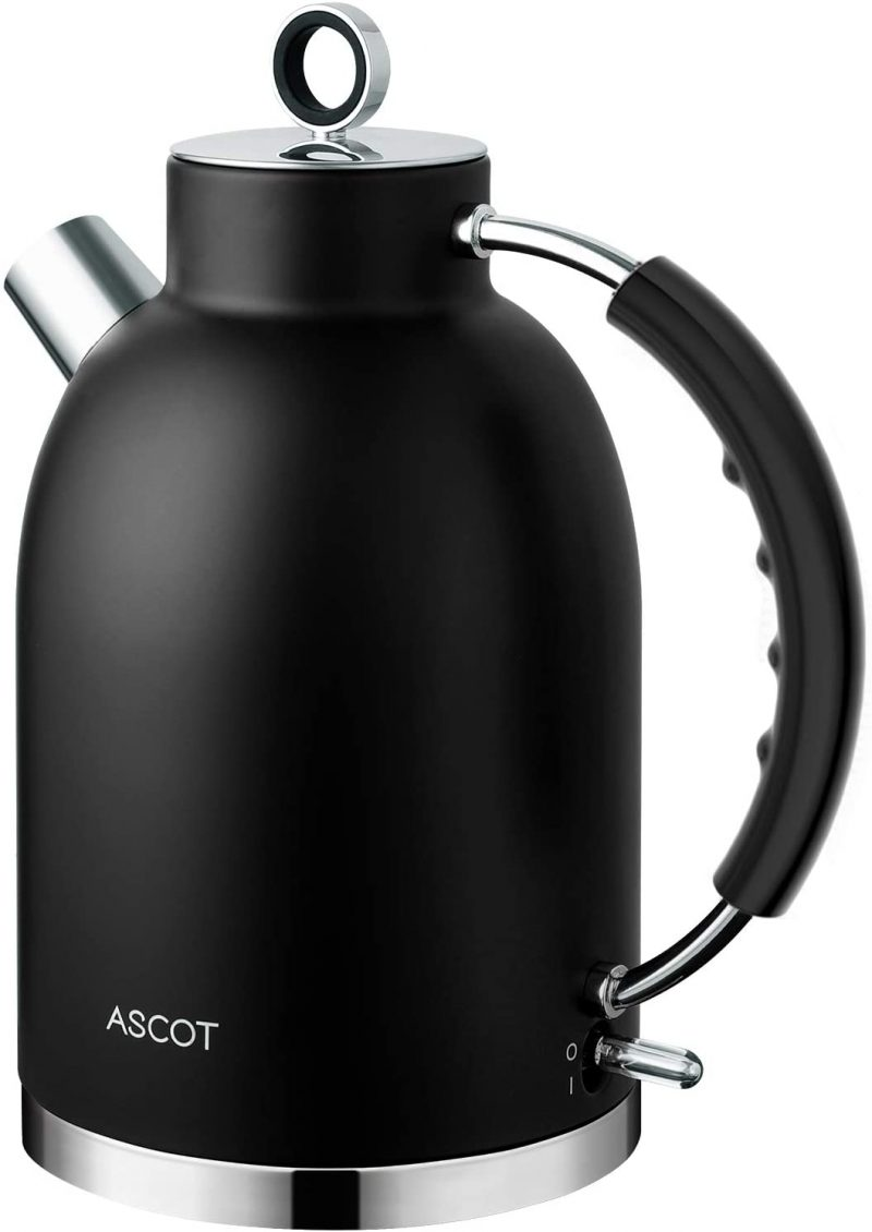 ASCOT Electric Kettles Stainless Steel BPA-Free Auto Shutoff