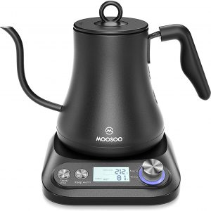 MOOSOO Electric Kettles Stainless Steel Temperature Control 0.8L