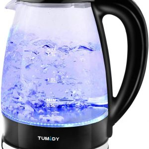 TUMIDY Electric Kettles Glass Variable Temperature BPA-Free 1.7L