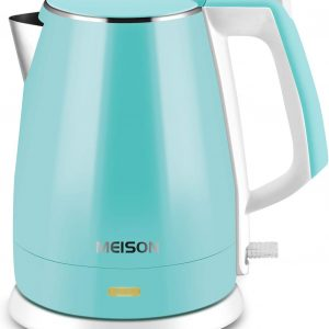 MEISON Electric Kettles Stainless Steel Cool Touch Cordless 1.5L