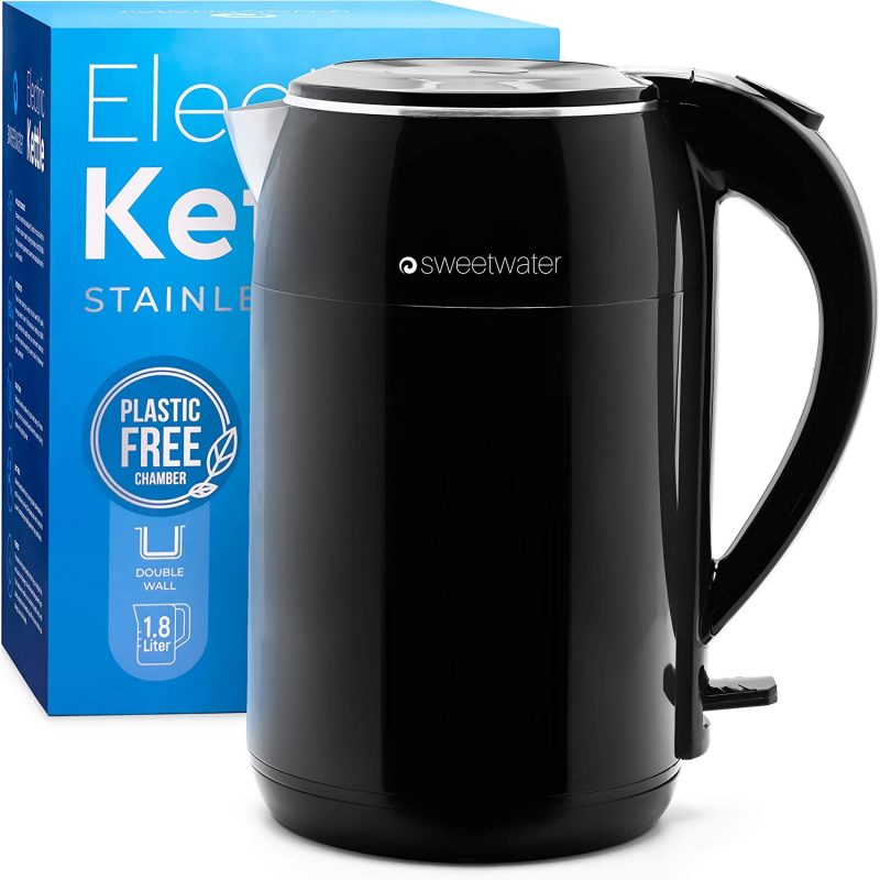 Sweetwater Electric Kettles Stainless Steel BPA Free Cordless